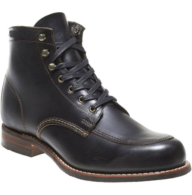 Men Handmade Black Leather Ankle High Boots, Mens Stylish Designer Boots, men's boot