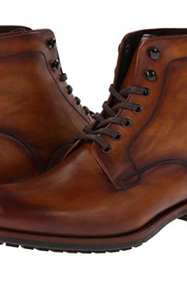 Men's Handmade Brown Leather Boots, Men's Ankle High Lace Up Boots
