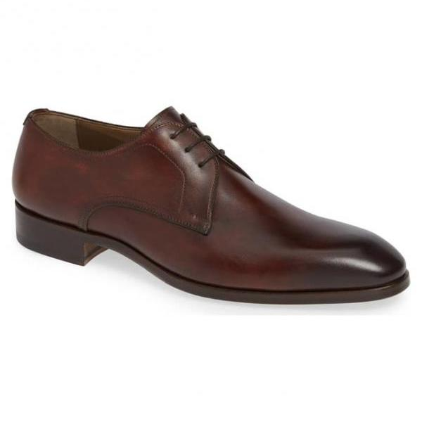 Men's Handmade Brown Leather Shoes, Mens Derby Leather Shoes, Men Leather Brown Shoes